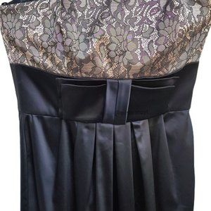 MAGGY LONDON Black Tie Strapless Cocktail Dress 4